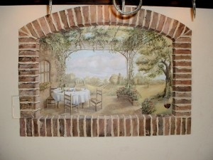Brick Window Mural